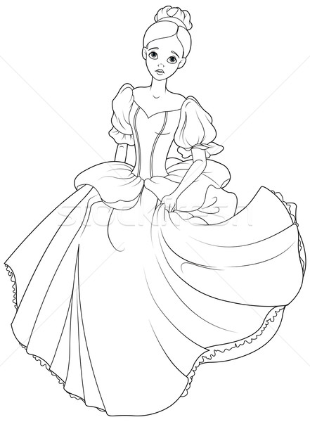 Cinderella Fairy Godmother Coloring Pages 10 in 2020 | Cinderella ... | 600x441