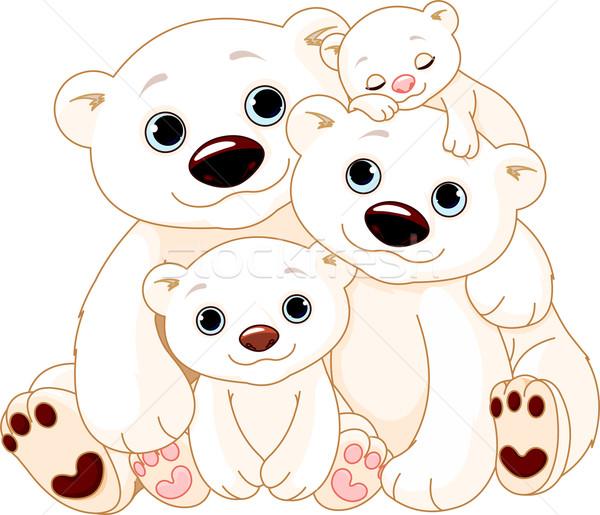 Big Polar bear family Stock photo © Dazdraperma