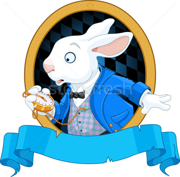 White Rabbit with watch design Stock photo © Dazdraperma