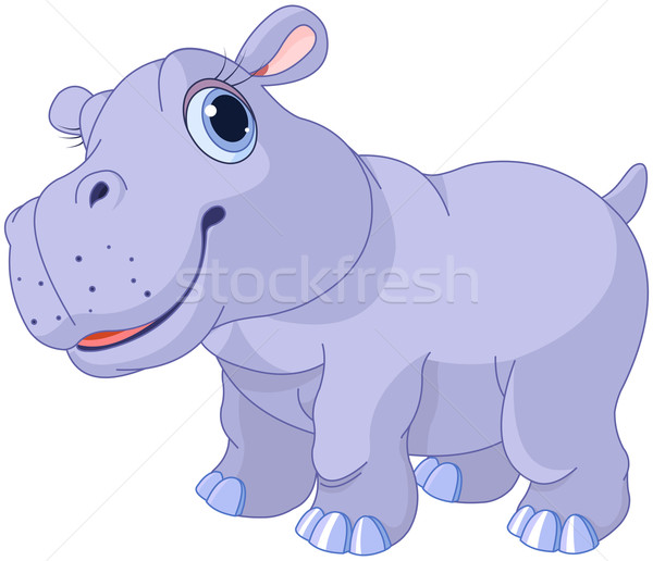 Cute hippo Stock photo © Dazdraperma