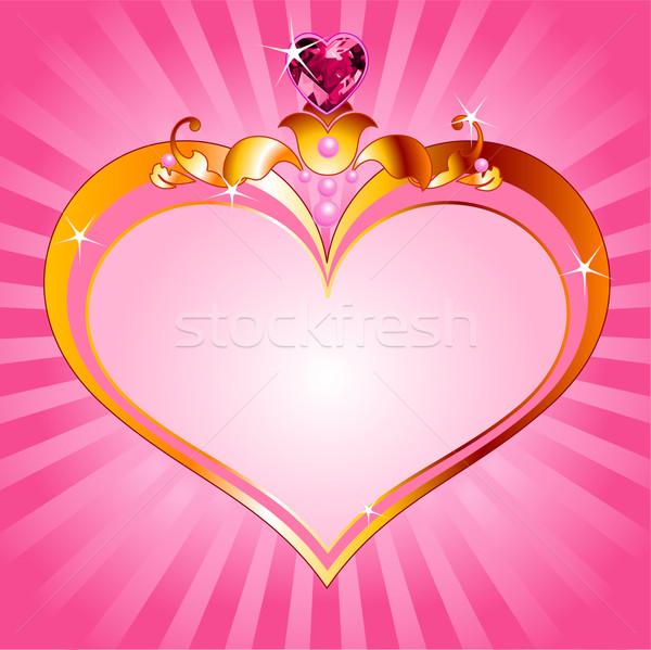 Szeretet hercegnő rózsaszín keret tökéletes gyönyörű Stock fotó © Dazdraperma