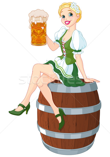 Oktoberfest Girl Stock photo © Dazdraperma