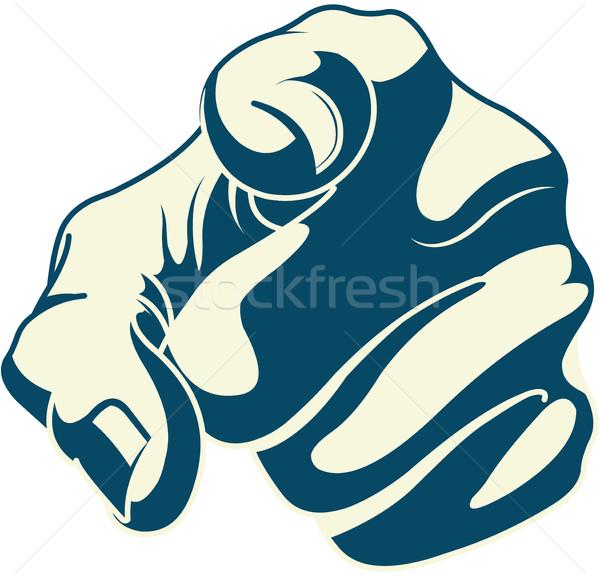 Işaret işaret parmağı örnek sanat imzalamak Stok fotoğraf © Dazdraperma