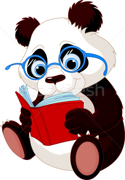 Cute Panda Education Stock photo © Dazdraperma
