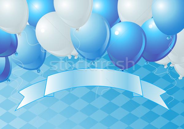 Oktoberfest uroczystości balony wektora kopia przestrzeń Zdjęcia stock © Dazdraperma