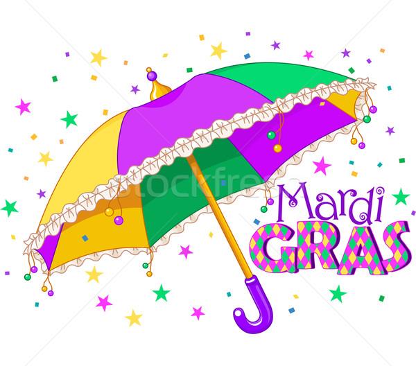 Mardi Gras umbrella Stock photo © Dazdraperma
