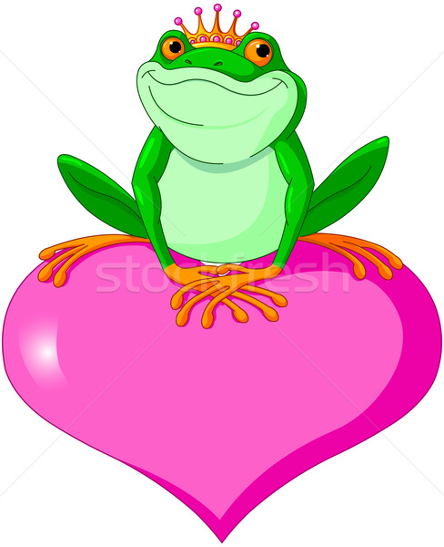 Valentine frog Stock photo © Dazdraperma