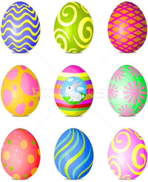 Set of Easter eggs Stock photo © Dazdraperma