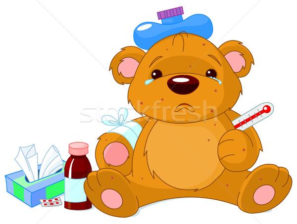 Sick Teddy Bear Stock photo © Dazdraperma