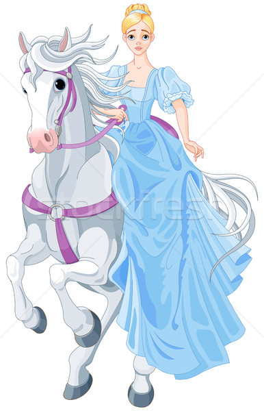 Stock photo: The Princess Is Riding a Horse