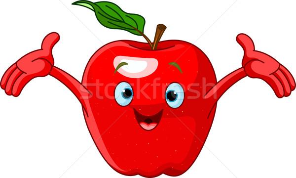 Vrolijk cartoon appel karakter illustratie oog Stockfoto © Dazdraperma