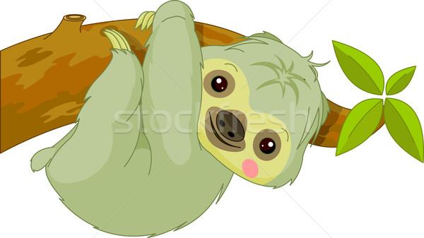 Fun zoo. Sloth Stock photo © Dazdraperma