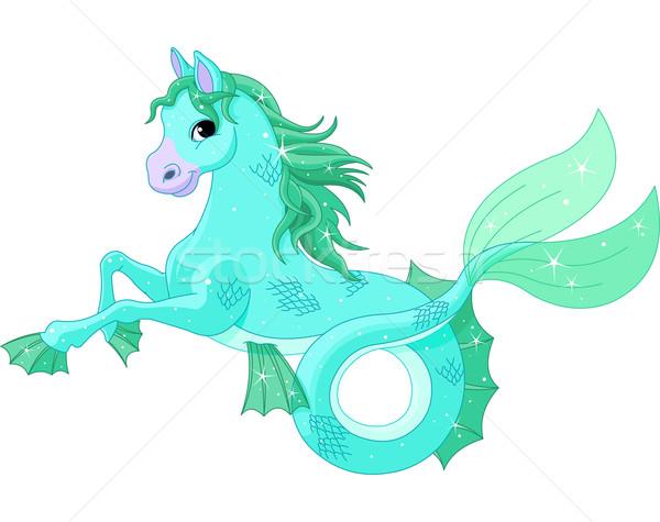 Mitológico mar cavalo ilustração arte animais Foto stock © Dazdraperma
