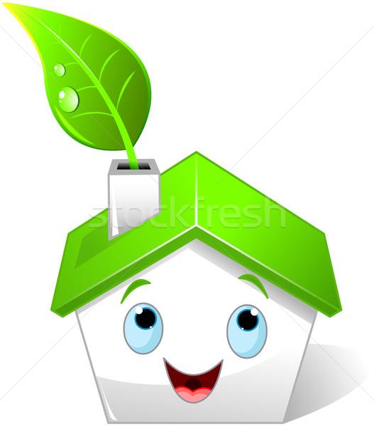 Illustration Haus Lächeln Gebäude Bau Stock foto © Dazdraperma