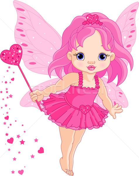 Cute wenig Baby Liebe Fee Illustration Stock foto © Dazdraperma
