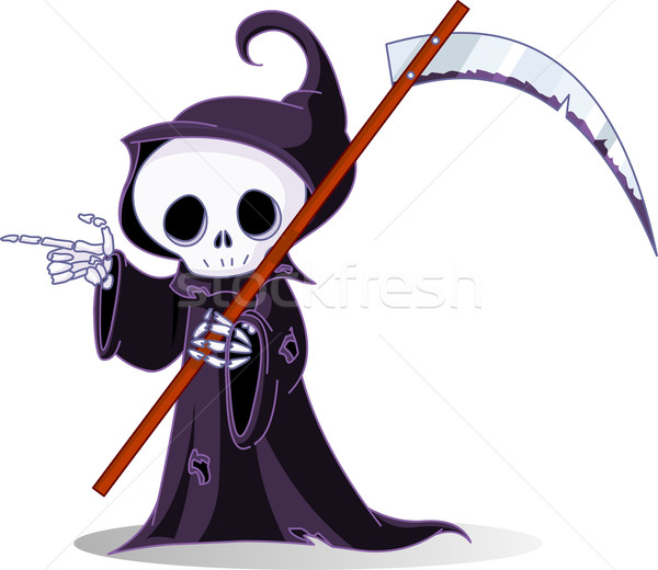 Cartoon grim reaper  pointing Stock photo © Dazdraperma