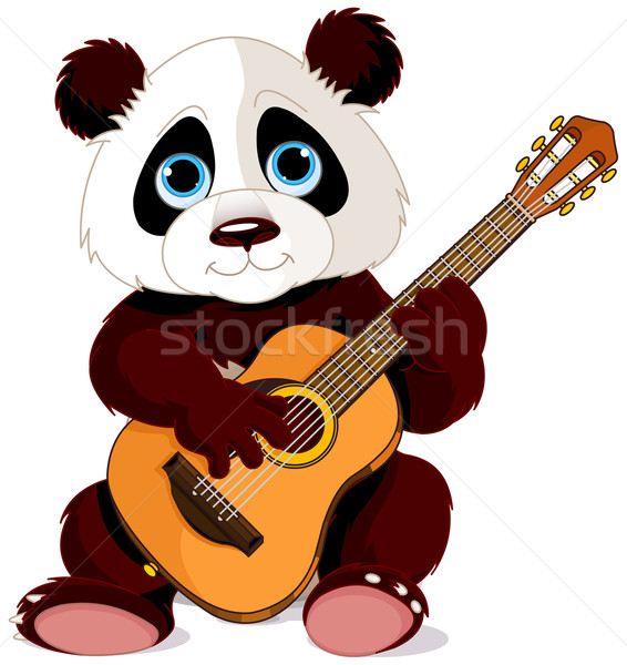 Panda guitarist Stock photo © Dazdraperma