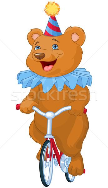 Circus beer illustratie cute fiets natuur Stockfoto © Dazdraperma