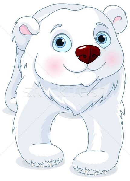 Urso polar ilustração bonitinho caminhada arte vida Foto stock © Dazdraperma
