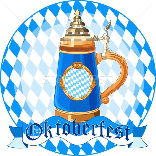 Oktoberfest célébration design mug verre amusement Photo stock © Dazdraperma