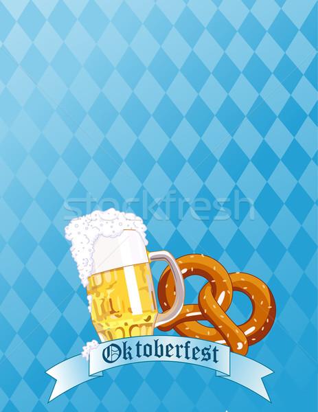 Oktoberfest célébration vertical espace de copie art bleu Photo stock © Dazdraperma
