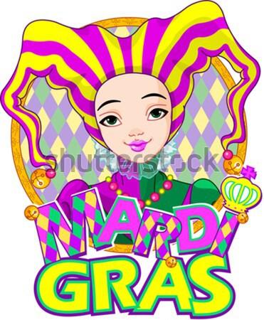 Mardi Gras Girl Design Stock photo © Dazdraperma