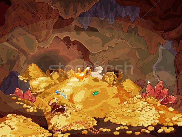 Tesoreria illustrazione magia grotta natura arte Foto d'archivio © Dazdraperma