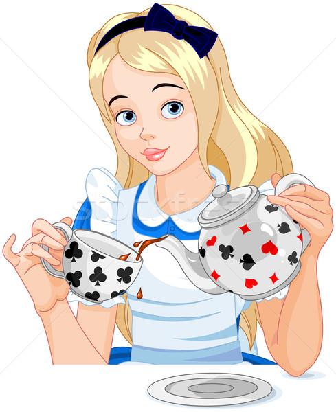 Alice takes tea cup Stock photo © Dazdraperma