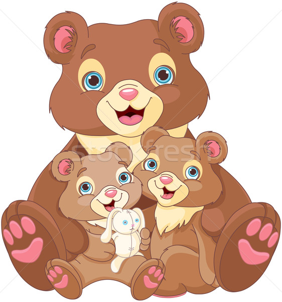 Bear family Stock photo © Dazdraperma