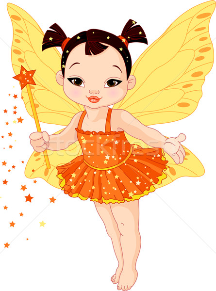 Cute Asian baby fairy Stock photo © Dazdraperma
