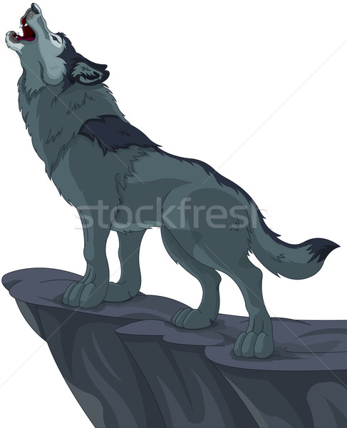 Howling wolf Stock photo © Dazdraperma