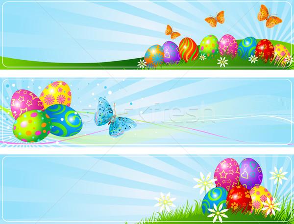 Easter Eggs Banners  Stock photo © Dazdraperma