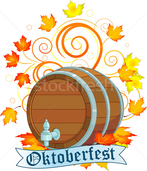 Oktoberfest design with keg Stock photo © Dazdraperma
