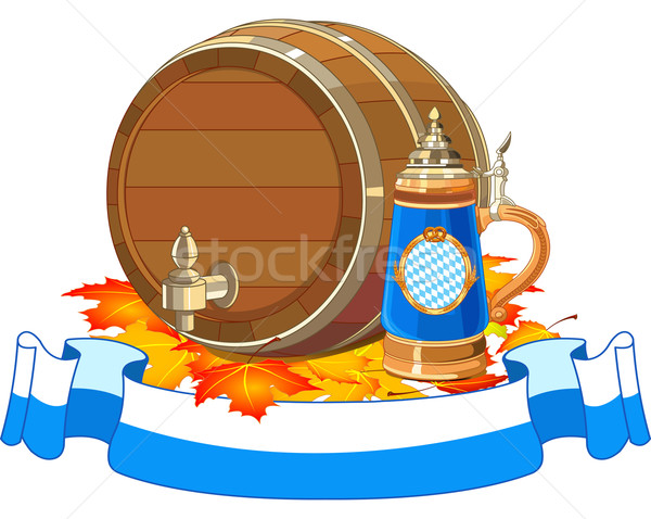 Oktoberfest keg and mug Stock photo © Dazdraperma