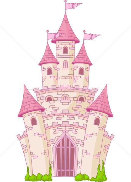 Magic zamek ilustracja bajki princess wieża Zdjęcia stock © Dazdraperma