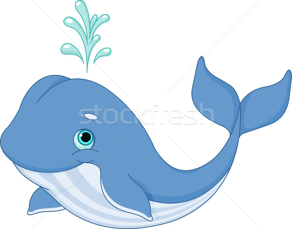 Whale Cartoon Vector Illustration © Anna Velichkovsky