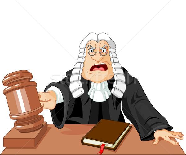 судья молоток сердиться вердикт прав мужчин Сток-фото © Dazdraperma