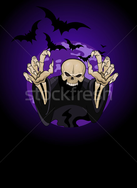 Halloween horrible Grim Reaper Stock photo © Dazdraperma
