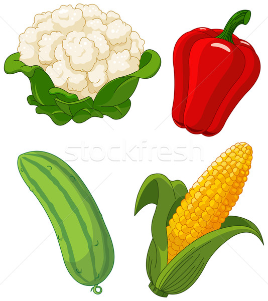 Set of vegetables2 Stock photo © Dazdraperma