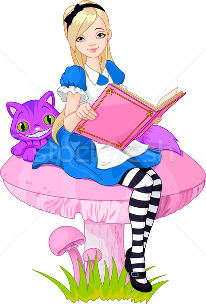 Libro nina hasta como mundo maravilloso Foto stock © Dazdraperma