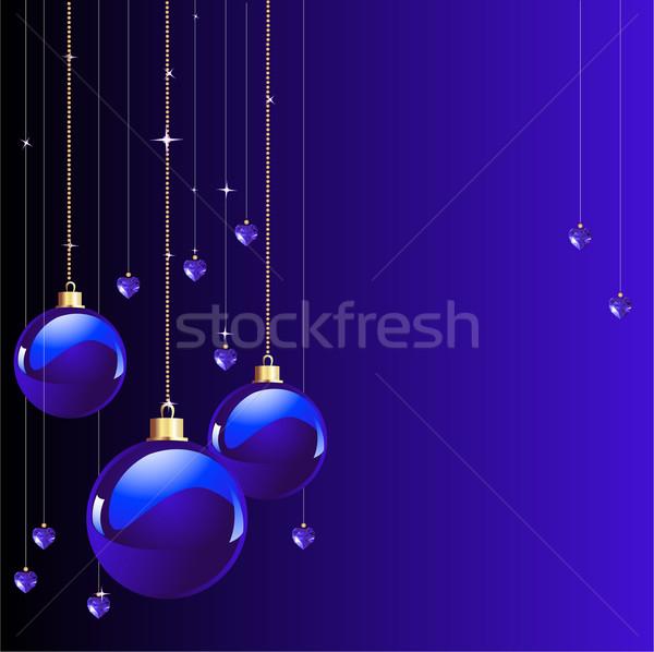 Blauw kleuren christmas nieuwe jaren plaats Stockfoto © Dazdraperma
