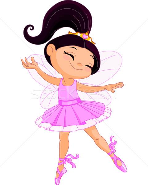 Pequeno fadas bailarina ilustração feliz dançar Foto stock © Dazdraperma