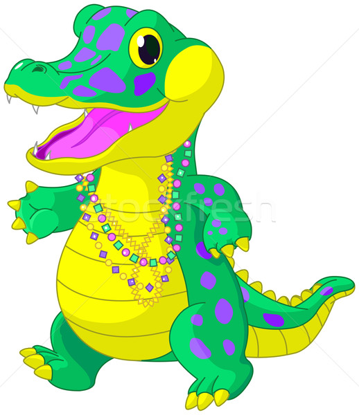 Mardi Gras Alligator  Stock photo © Dazdraperma