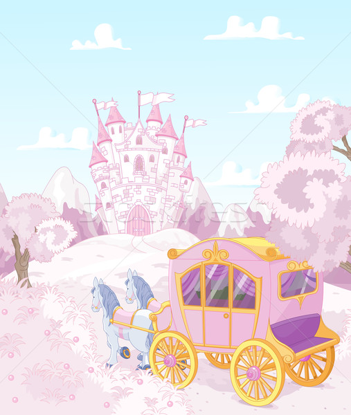 Princess Carriage Back to Kingdom Stock photo © Dazdraperma