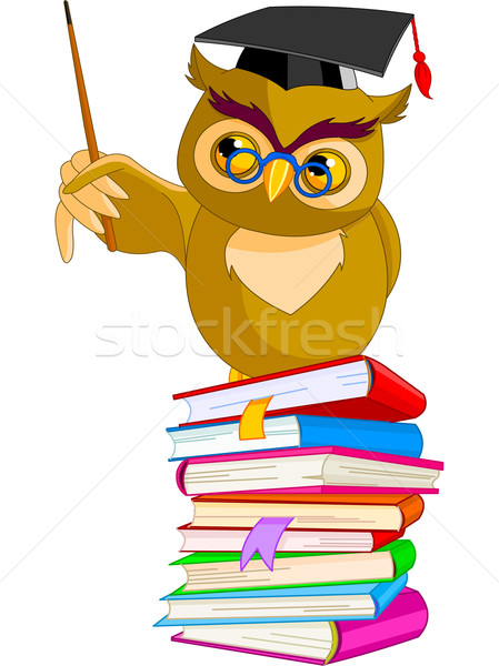 Cartoon Wise Owl  Stock photo © Dazdraperma