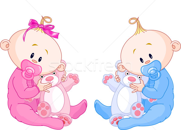 Twin Babies Stock photo © Dazdraperma