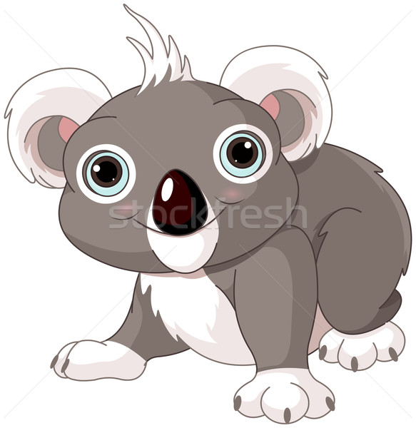 Cute koala Stock photo © Dazdraperma