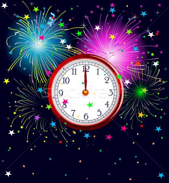 New Year Clock Stock photo © Dazdraperma
