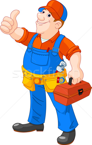 Cartoon serviceman Stock photo © Dazdraperma