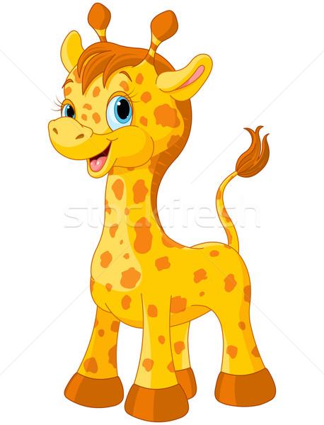 Cute giraffe illustratie weinig natuur speelgoed Stockfoto © Dazdraperma
